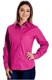 Camisa Social Feminina Dudalina - Pink