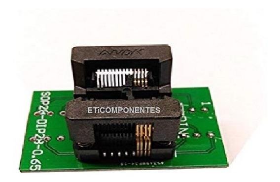 Adaptador Soquete Socket Tssop8 P/ Dip8 170mil Rt809h