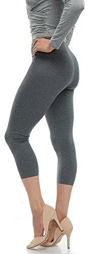 Malvina Lush Moda Leggings Capri De Algodon Suave - Tallas G
