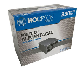 Fonte Atx 230 Watts Real Hoopson Fnt-230w-h Chave Bivolt