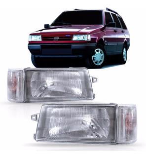 Jogo Farolete E Sete Fiat Uno 1994 1995 96 2000 A 2003