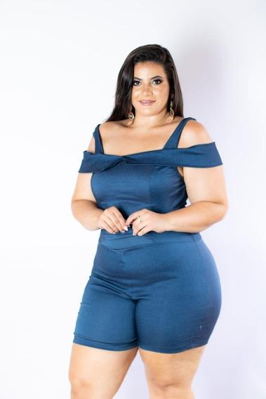 Macaquinho Tipo Ciganinha Plus Size 46-52