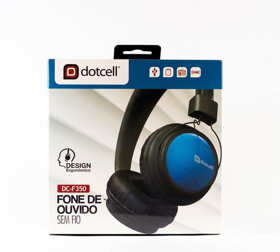 Fone De Ouvido Bluetooth 4.0 Dotcell Dc-f350 (azul)