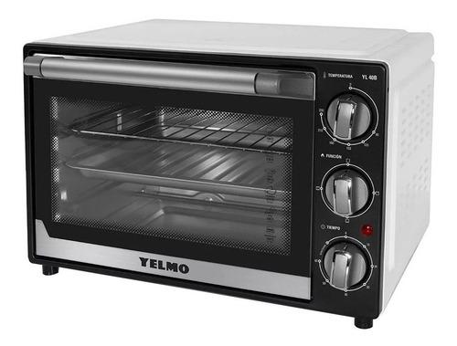 Imagen 1 de 2 de Horno de mesa eléctrico Yelmo YL-40B 40L blanco/negro 220V