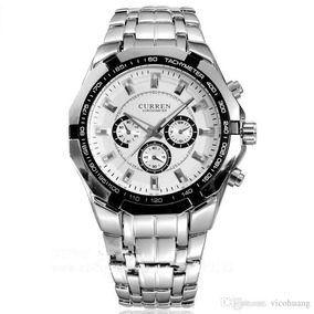 Relógio Masculino Curren Preto Ou Branco Frete Gratis