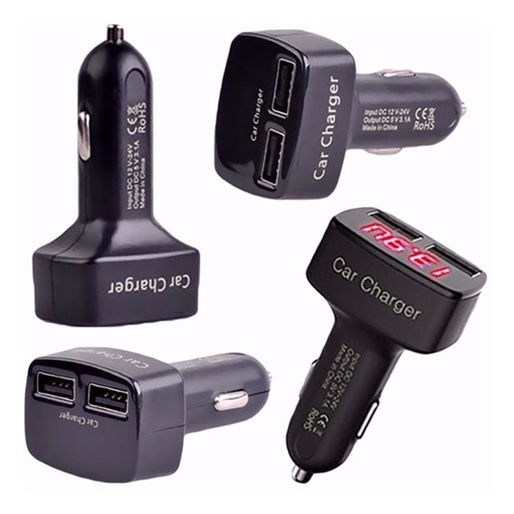 Medidor De Bateria + Carregador Usb Celular 5v 12v 24v Carro