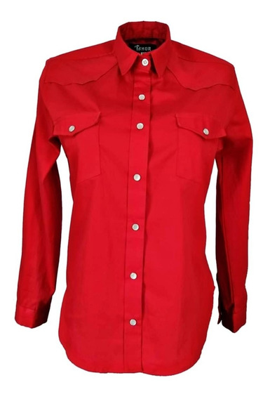Blusa Vaquera Roja Para Mujer