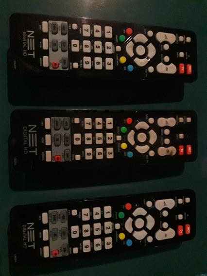 3 Controles Net Tv. Funcionando.