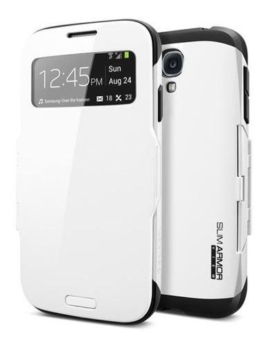 Excelente Carcasa Con Tapa Slim Armor View Samsung Galaxy S4