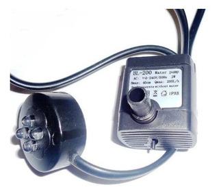 Bomba Motor 2 W C/luz Fuentes De Agua Feng Shui Con 4 Leds