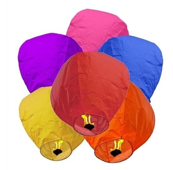 20 Globos De Cantoya Colores