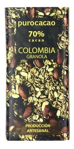 Imagen 1 de 6 de Chocolate Al 70% Con Granola Purocacao X 50gr