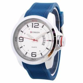 Relógio Masculino Curren Analógico Casual Azul