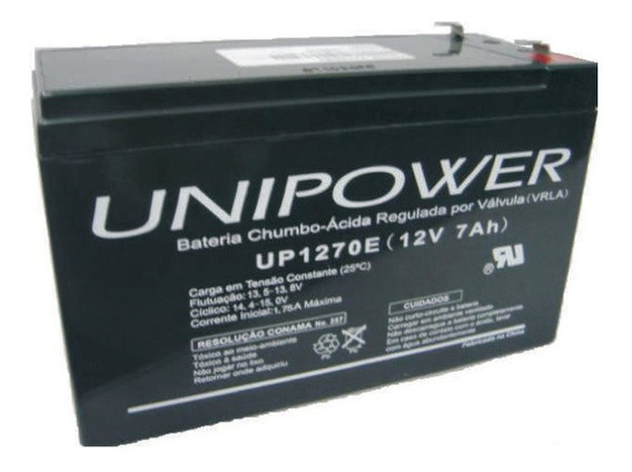 Bateria Selada 12v 7,0ah Multiuso Up1270seg Unipower