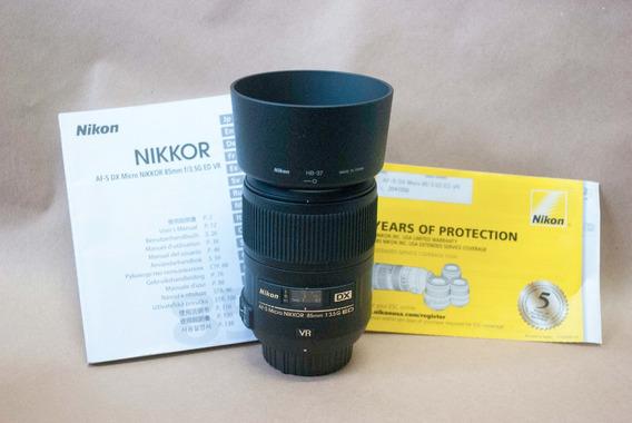 Lente Nikon Macro 85mm F3.5 Afs Dx Ed Vr - Abaixei