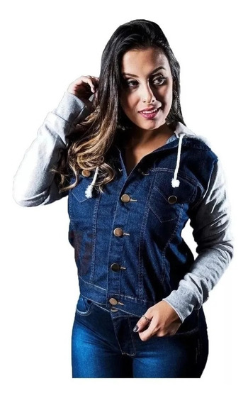Jaqueta Jeans Com Manga Muletom.divine Jeans