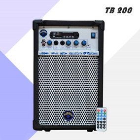 Caixa Multiuso Turbox Tb-200 40w Rms Bluetooth Usb Sd Fm