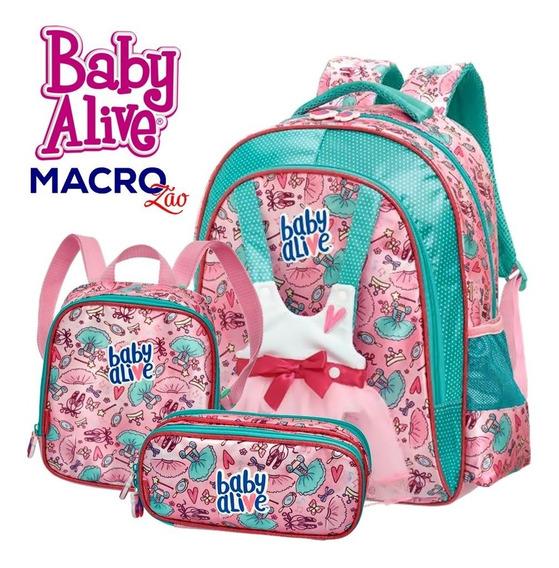Baby Alive Costas M 980a05 Estojo Lancheira Ballet Escolar