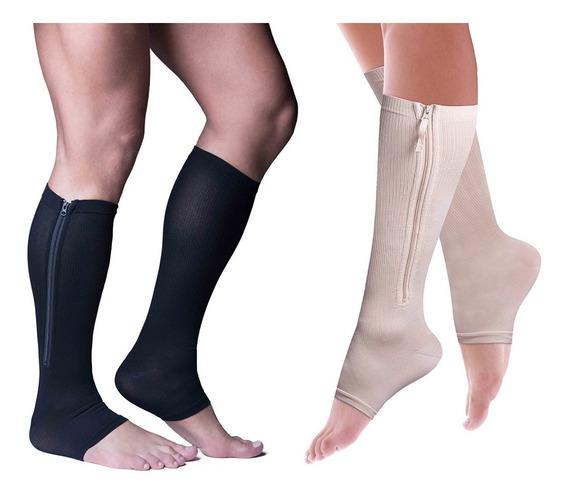 Power Zip By Power Legs - 2 Pares - Prevención De Várices