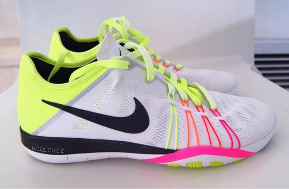 Zapatillas Nike Free Tr6 Mujer Blanca Con Colores Flúor