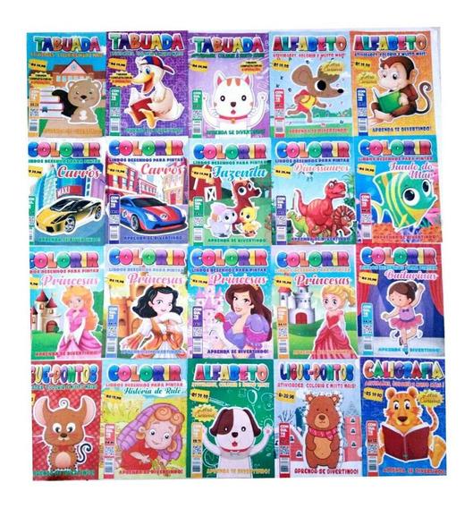 Kit Com 50 Revistas De Colorir E Atividades.