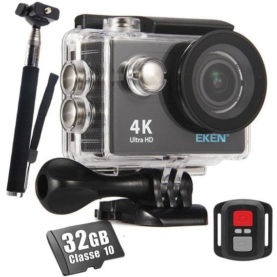 Camera Esportiva Eken H9r Original 4k 32gb Bastao Wifi Hd