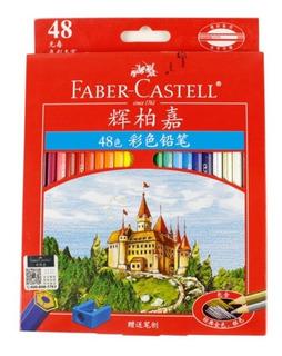 Set De 48 Lápiz Faber Castell Colores Dibujo Artista Estuche