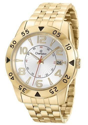 Relógio Champion Masculino Dourado Ca31257h Original