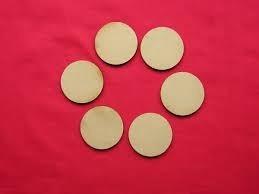 50 Circulos Fibrofacil Mdf De 3cm