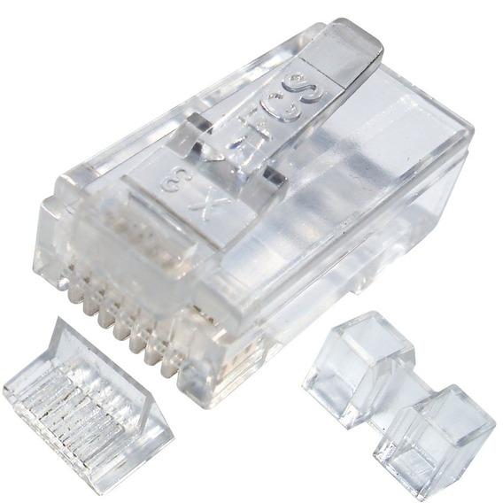 Conector Plug Macho Rj45 Cat.6 8 Vias