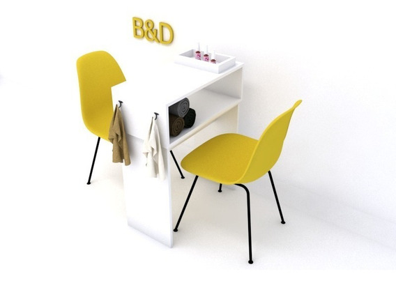Kit Mesa Manicure + Cadeira Charles Eiffel + Bandeja Brinde