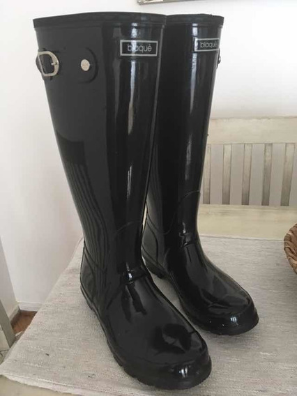 Botas Lluvia Blaque Caña Alta Negras Talle 39. 1 Uso Real