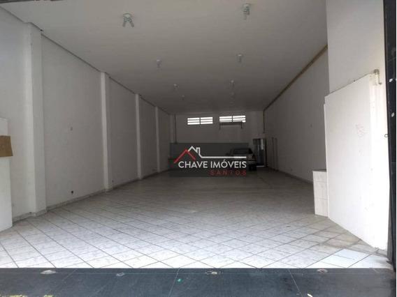 Loja Para Alugar, 230 M² Por R$ 5.000,00/mês - Centro - Santos/sp - Lo0103
