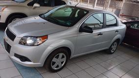 Chevrolet Aveo Ls Plata 2016 Aut