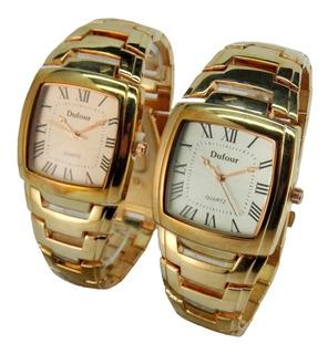 Reloj Dufour Quartz Acero Dorado Rosee Garantia Oficial 12m