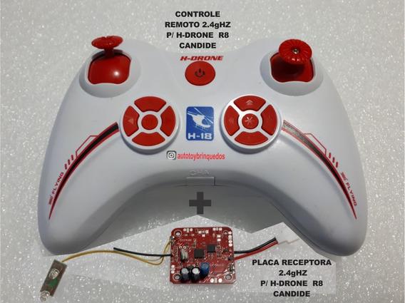 Controle H-drone R8 + Placa Receptora - Candide Cód:1318
