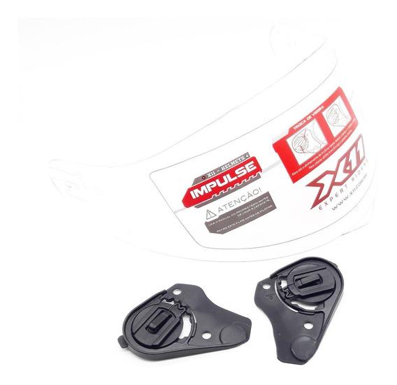 Kit Reparo + Viseira Cristal Capacete X11 Impulse