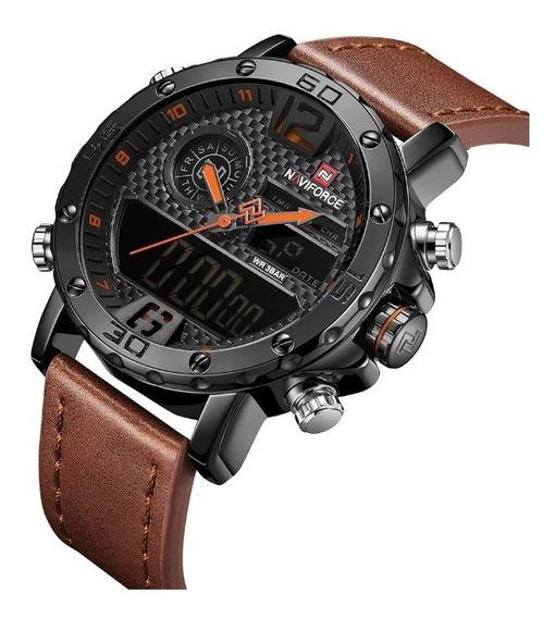 Reloj Naviforce Pilot Hombre Análogo Digital Acero Piel