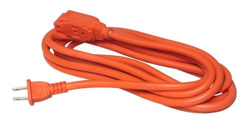 Extensión Eléctrica 10m Naranja Uso Rudo Fulgore Fp0127