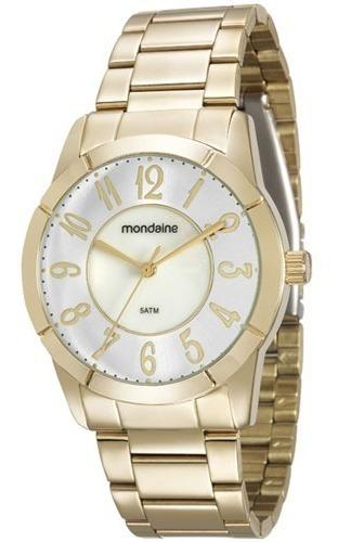 Relógio Mondaine Feminino Dourado C/ Prata 94925lpmkde1k1