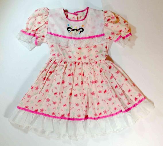 Vestido Infantil Festa Junina Caipira Maria Bonita Floral