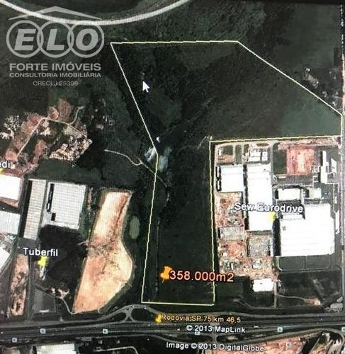 Imagem 1 de 5 de Área Industrial À Venda Sp 75 Caldeira Indaiatuba Sp, Área Industrial 358.521,55m² Em Frente À Rodovia Em Indaiatuba Sp - Ar00034 - 34442830