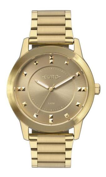 Relógio Euro Feminino Analógico Design Moderno Casual