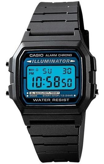 Reloj Casio F105w-1a. Vintage. Unisex. Illuminator