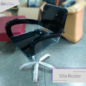 Silla Bicolor Para Peluqueria