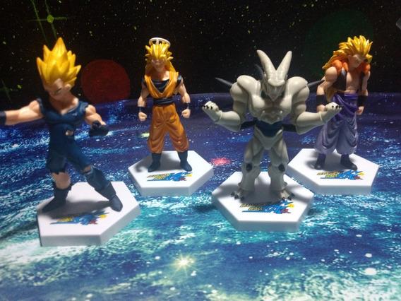 4 Bonecos Dragon Ball Z Vegeta Goku - Gogetta + U Shenlong