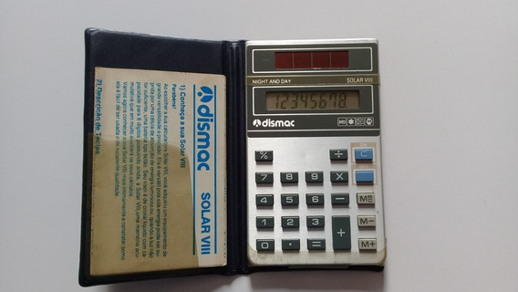 Calculadora Dismac Solar Viii Funcionando Na Caixa C/ Manual