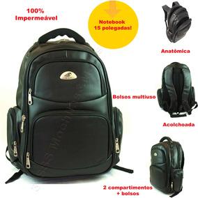 Bolsa Mochila Feminin Impermeável Em Couro Pu Laptop Kvn3214