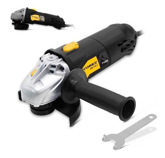 Esmerilhadeira Lixadeira Angular 4 1/2 710w Hammer Gyem101