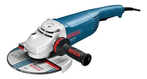 Esmerilhadeira angular Bosch Professional GWS 22-230 de 50Hz azul 220V